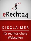 Disclaimer eRecht24