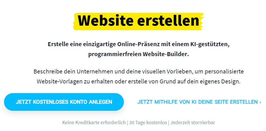 Webseite erstellen mit Website Builder
